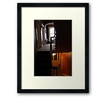 Upstairs/downstairs Framed Print