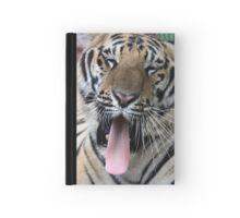 Yawning Tiger Hardcover Journal