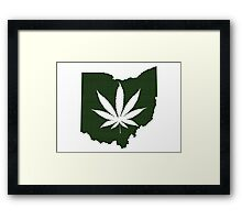 Marijuana Leaf Ohio Framed Print