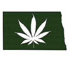Marijuana Leaf North Dakota Photographic Print