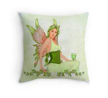 Absinthe the Green Fairy Throw Pillow