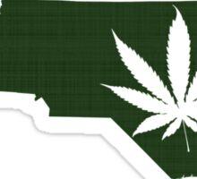 Marijuana Leaf North Carolina Sticker