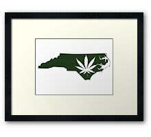 Marijuana Leaf North Carolina Framed Print