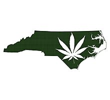 Marijuana Leaf North Carolina Photographic Print