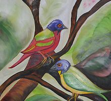 Painted Buntings by Melanie Wadman