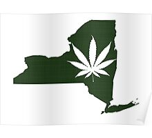 Marijuana Leaf New York Poster