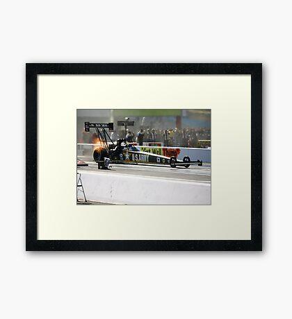 zMax Drag Strip 4 wide Framed Print