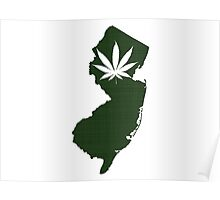 Marijuana Leaf New Jersey Poster