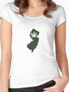 Marijuana Leaf New Jersey Women's Fitted Scoop T-Shirt