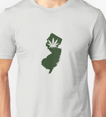 Marijuana Leaf New Jersey Unisex T-Shirt