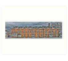 Old Factory Panorama along The Hudson River Art Print
