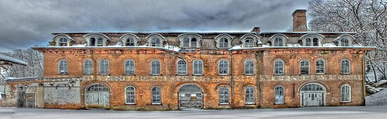 Old Factory Panorama along The Hudson River by Jaime Martorano