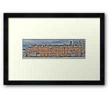 Old Factory Panorama along The Hudson River Framed Print