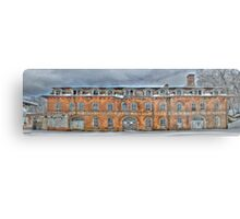 Old Factory Panorama along The Hudson River Metal Print