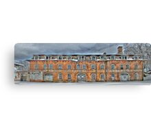 Old Factory Panorama along The Hudson River Canvas Print