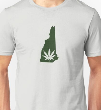 Marijuana Leaf New Hampshire Unisex T-Shirt