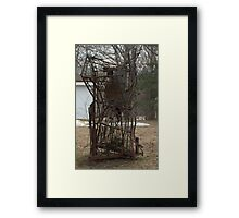 Where do your put crap.....??? Make it into a sculpture... Framed Print