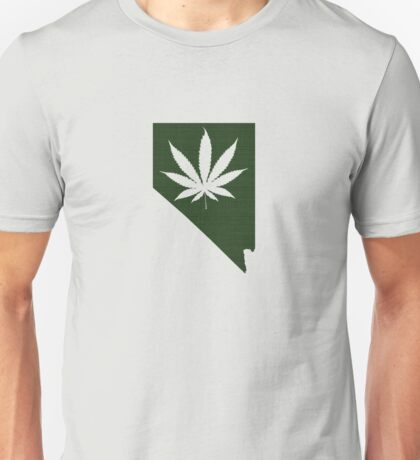 Marijuana Leaf Nevada Unisex T-Shirt