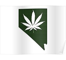 Marijuana Leaf Nevada Poster