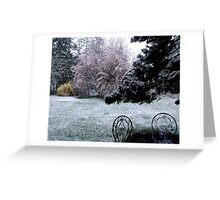 Plum Blossoms and Snow Greeting Card