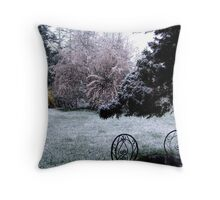 Plum Blossoms and Snow Throw Pillow
