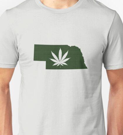Marijuana Leaf Nebraska Unisex T-Shirt