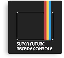 SUPER FUTURE ARCADE CONSOLE Canvas Print