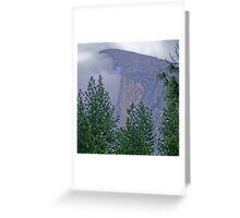 half dome fog Greeting Card