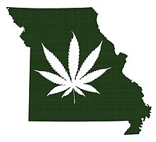 Marijuana Leaf Missouri by surgedesigns