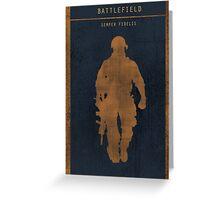 Battlefield 3 gaming poster Greeting Card