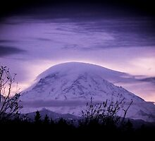 Mt Rainier in the early morning by Matthew Kochel