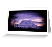 Mt Rainier in the early morning Greeting Card