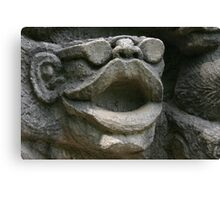 Stone sculpture of big lips Canvas Print