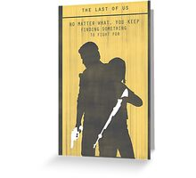 The Last Of Us Gaming Poster Greeting Card