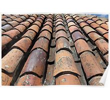 Old Tiled Roof Poster