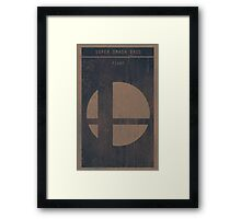 Super Smash Bros. Gaming Poster Framed Print