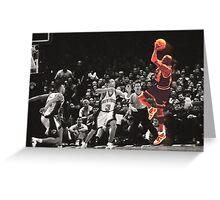 Michael Jordan vs NY Knicks Greeting Card