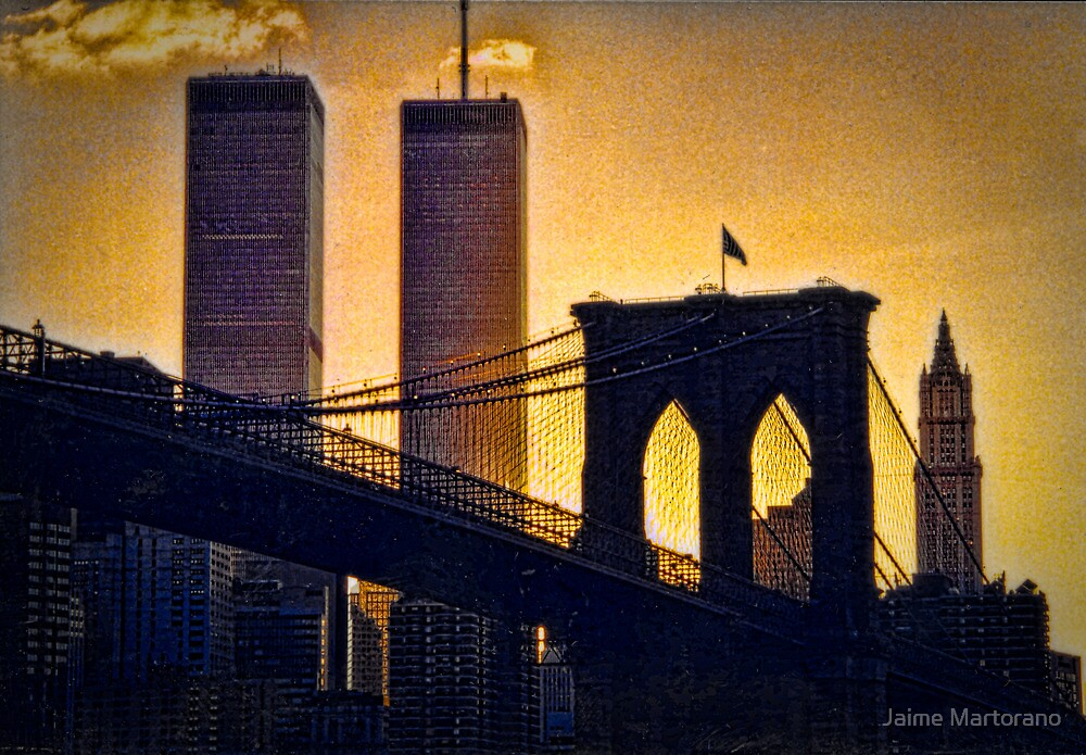 Brooklyn Bridge to The Twin Towers  by Jaime Martorano