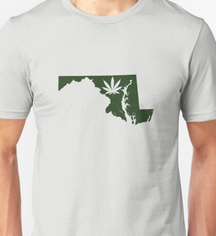 Marijuana Leaf Maryland Unisex T-Shirt