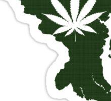 Marijuana Leaf Maryland Sticker