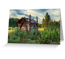 Old Lumber Mill Cabin Greeting Card