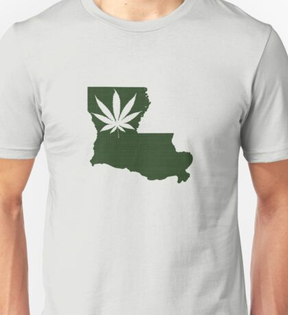 Marijuana Leaf Louisiana Unisex T-Shirt