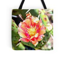 Red and Yellow Cactus Flower Bloom Tote Bag