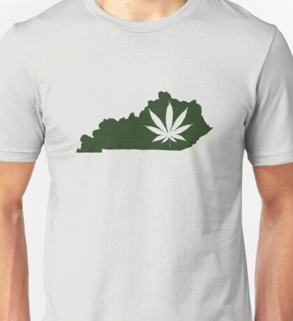 Marijuana Leaf Kentucky Unisex T-Shirt