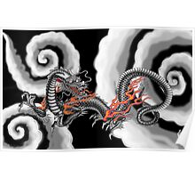 Japanese Cloud Vortex Poster