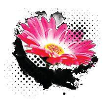 Abstract Flower Pop Art Photographic Print