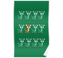LOOK! It's Rudolph! v2(Green) Poster