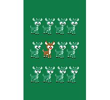 LOOK! It's Rudolph! v2(Green) Photographic Print