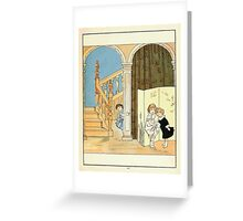 The Glad Year Round for Boys and Girls by Almira George Plympton and Kate Greenaway 1882 0061 Listening Greeting Card