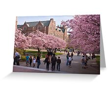 Walking on the UW Campus - First Day of Spring Greeting Card